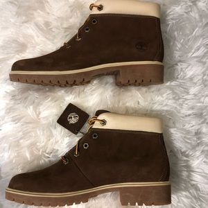 Brown suede Ladies Timberland ankle boots